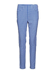 Gingham Skinny Golf Pant - MAIDSTONE BLUE GI