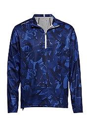 Paneled Interlock Golf Jacket - BLUE ELMWOOD CAMO
