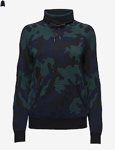 MERINO/RAYON-LSL-SWT - BLACKWATCH CAMO