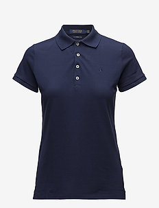 Tailored Fit Piqué Golf Polo - FRENCH NAVY