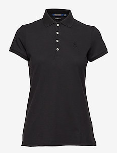 Tailored Fit Golf Polo Shirt - POLO BLACK