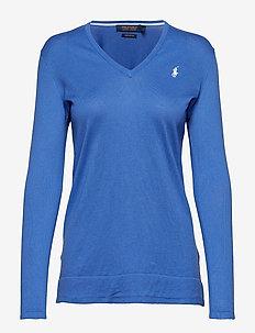 UV Cotton V-Neck Sweater - MAIDSTONE BLUE