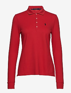 Tailored Fit Golf Polo Shirt - DEEP ORANGEY RED