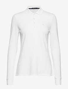 Tailored Fit Golf Polo Shirt - PURE WHITE