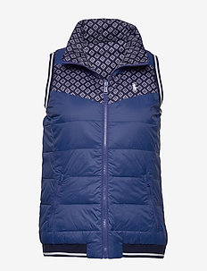 Reversible Down Golf Vest - golftakit - royal navy proven