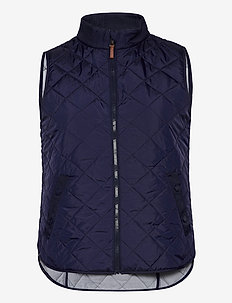 Quilted Golf Vest - eristetyt takit - french navy