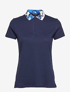 LUXE JERSEY-FASHION POLO - pikéer - french navy/porce