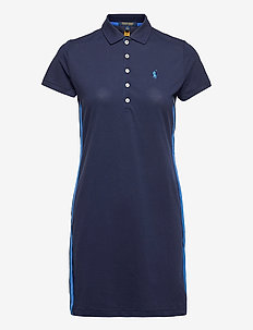 LT WT PERF PIQUE-S/S POLO DRS - everyday dresses - french navy