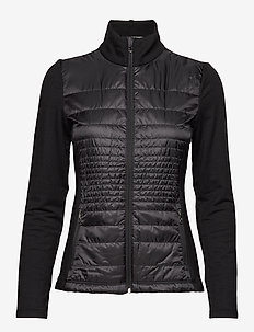 Quilted Wool Zip Jacket - POLO BLACK