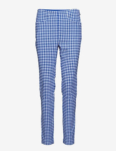 Gingham Skinny Golf Pant - MAIDSTONE BLUE GI