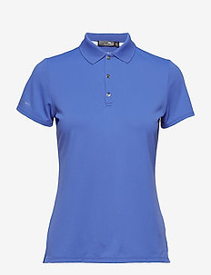 Tailored Fit Golf Polo Shirt - MAIDSTONE BLUE