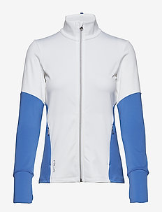 Color-Blocked Zip Jacket - PURE WHITE/ MAIDS