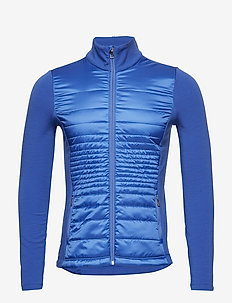 Quilted French Terry Jacket - MAIDSTONE BLUE