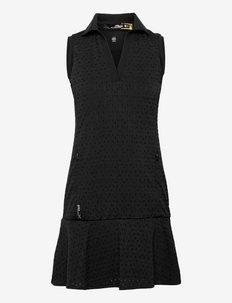 Eyelet Performance Dress - tshirt jurken - polo black