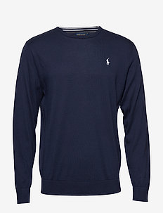 Cotton Crewneck Sweater - FRENCH NAVY