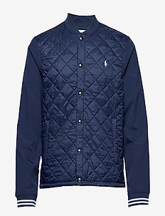 LT WT NYLON-CARDIGAN HYBRID - FRENCH NAVY