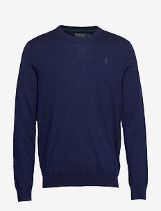 Merino Wool Golf Sweater - FRENCH NAVY