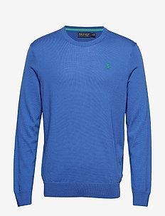 Merino Wool Golf Sweater - NEW IRIS BLUE