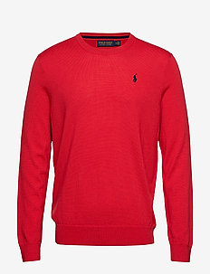 Merino Wool Golf Sweater - ORANGEY RED