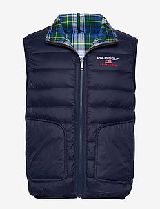 Reversible Down Golf Vest - PLAID/FRENCH NAVY
