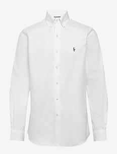 Easy Care Oxford Golf Shirt - WHITE