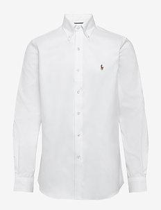 Easy Care Oxford Golf Shirt - WHITE