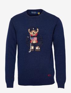 Polo Bear Cotton-Blend Golf Sweater - dzianinowe - french navy
