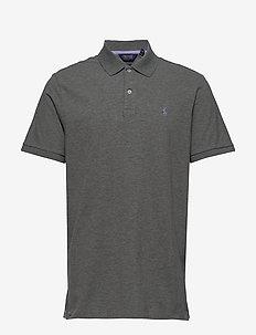 Custom Slim Fit Stretch Polo - boulder grey heat