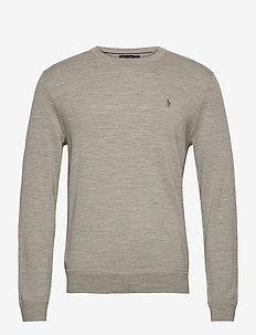 Washable Merino Wool Sweater - perus-college-paitoja - dark sport heathe
