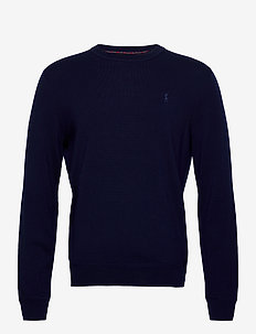 Washable Merino Wool Sweater - basic sweatshirts - french navy