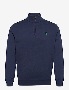PIMA 14 12GG-LS HZ PO W/PP - half zip - french navy