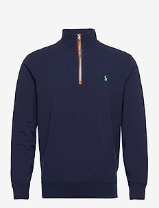 FINE GAUGE TERRY-LS HZ SF SPP - half zip - french navy