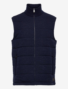 Lined Wool Sweater Vest - golftakit - french navy