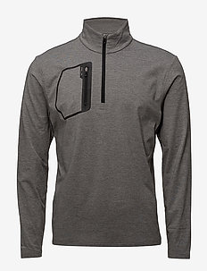 Tech Jersey Half-Zip Pullover - STEEL HEATHER