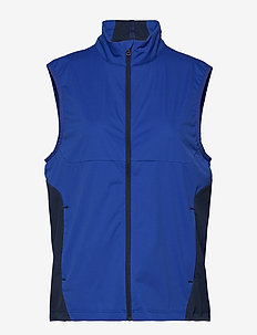 Paneled Interlock Golf Vest - ROYAL BLUE/FRENCH