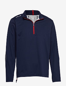 Paneled Interlock Golf Jacket - FRENCH NAVY