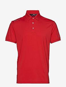 Custom Slim Performance Polo - DEEP ORANGEY RED