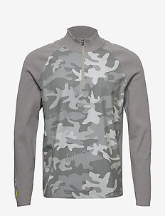 Camo Half-Zip Sweater - sweatshirts - camo grey
