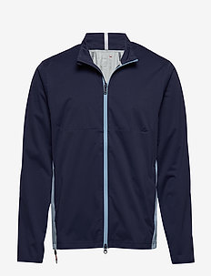 Water-Repellent Golf Jacket - FRENCH NAVY/POWDE