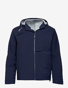 Water-Repellent Hooded Jacket - kurtki golfowe - french navy