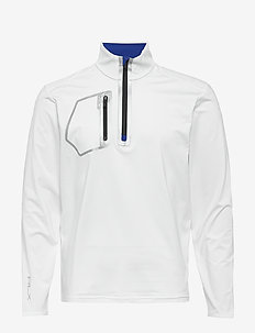 Performance Half-Zip Pullover - PURE WHITE