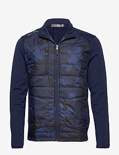 Stretch Terry Golf Jacket - FRENCH NAVY/CAMO