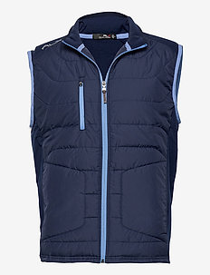 Ripstop-Panel Terry Vest - insulated jackets - french navy