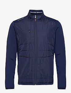 RECYCLED PERF WOOL-LS FZ MOCKNECK M - golf jassen - french navy