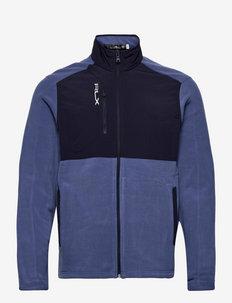 Hybrid Mockneck Jacket - mid layer jackets - bastille blue/fre