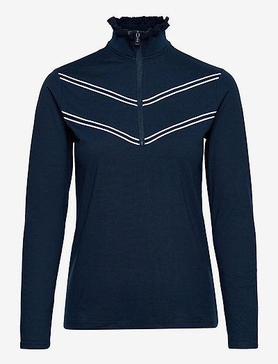 Chevron Performance Golf Quarter-Zip - fleece - french navy/pure