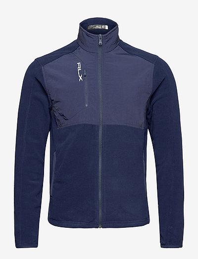 Hybrid Mockneck Jacket - mid layer jackets - french navy/frenc