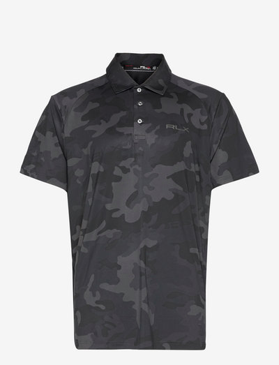 Custom Slim Fit Performance Polo Shirt - kurzärmelig - polo black camo