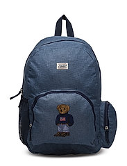 Campus Backpack - BLUE CHAMBRAY NYULON W NAVY W SWEATER BEAR