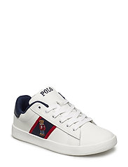 QUILTON BEAR - WHITE LEATHER W NAVY/RED STRIPING